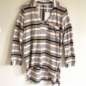 NWT Free People High-Low Striped Tunic
